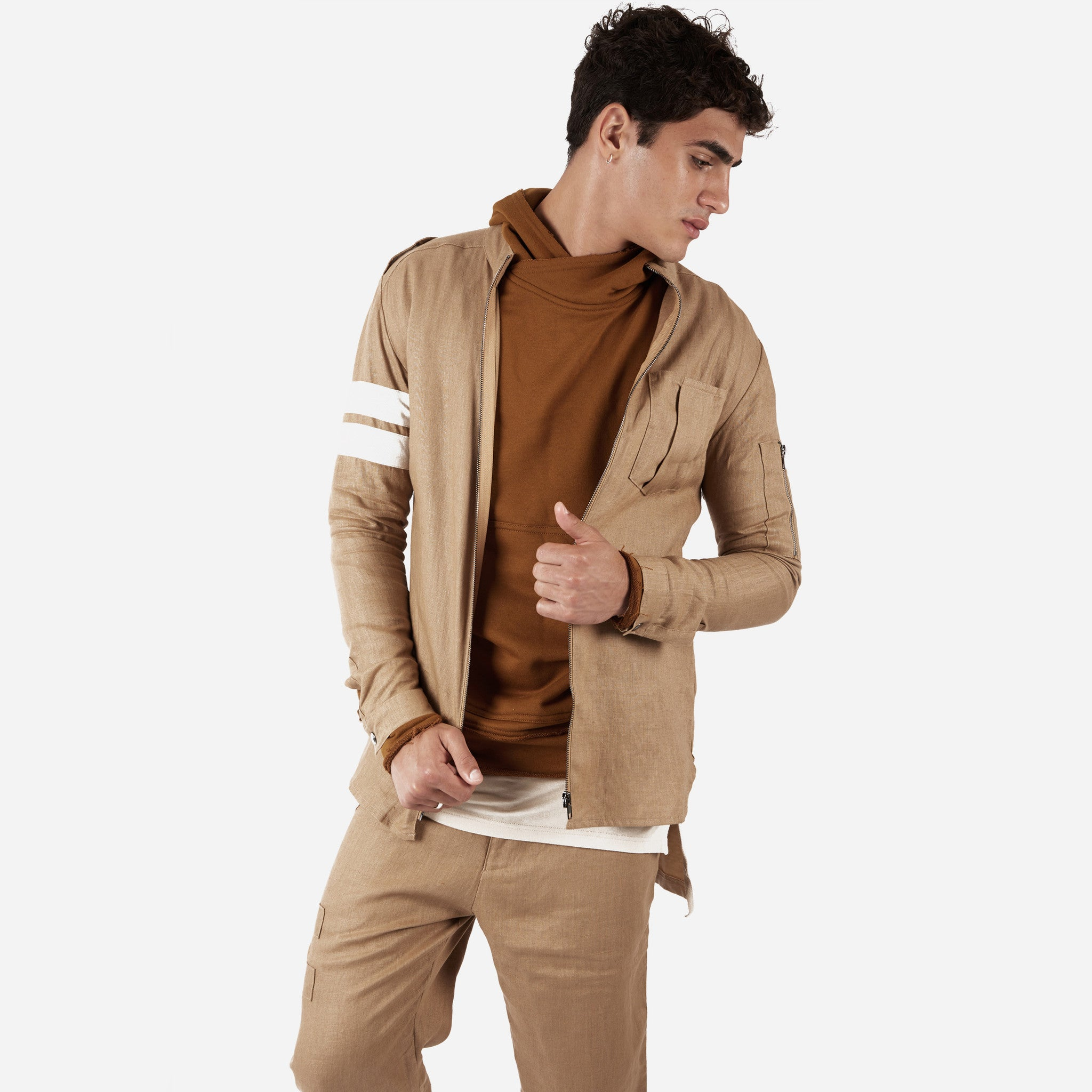 SH273 Exile Military Shirt - Tan - underated london - underatedco - 5