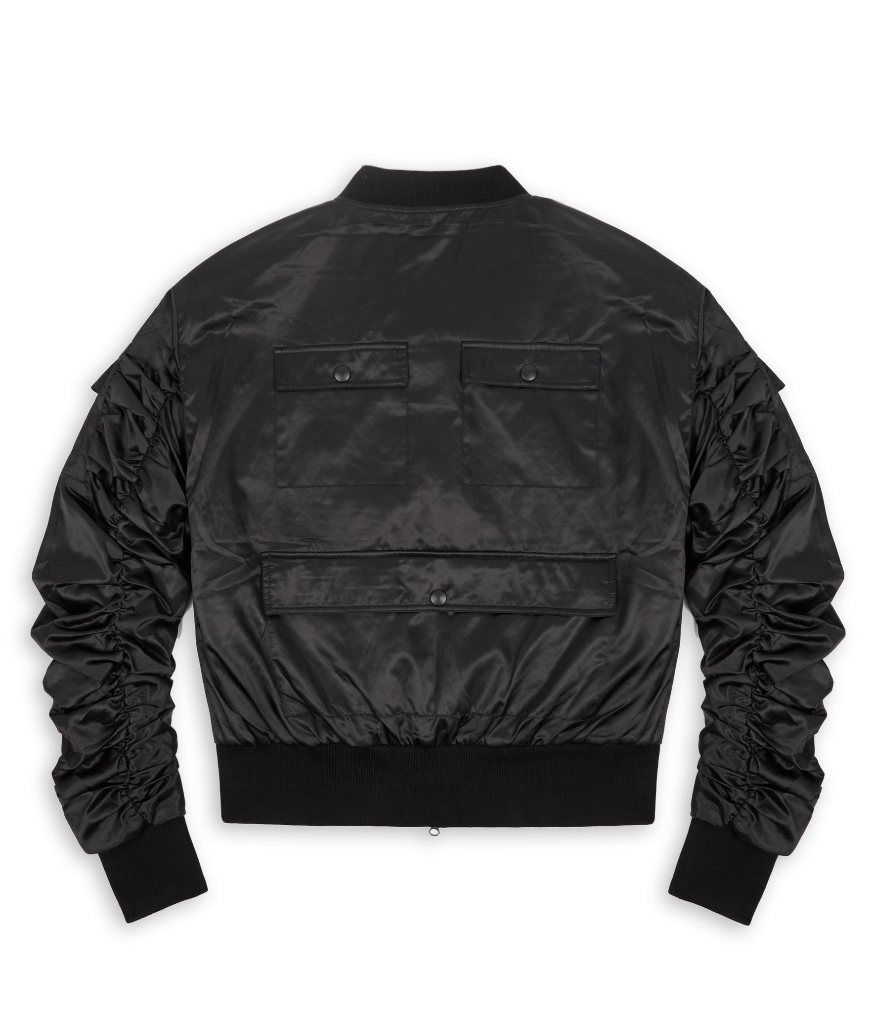 JK263 Exile Tactical Bomber Jacket - Black - underated london - underatedco - 2