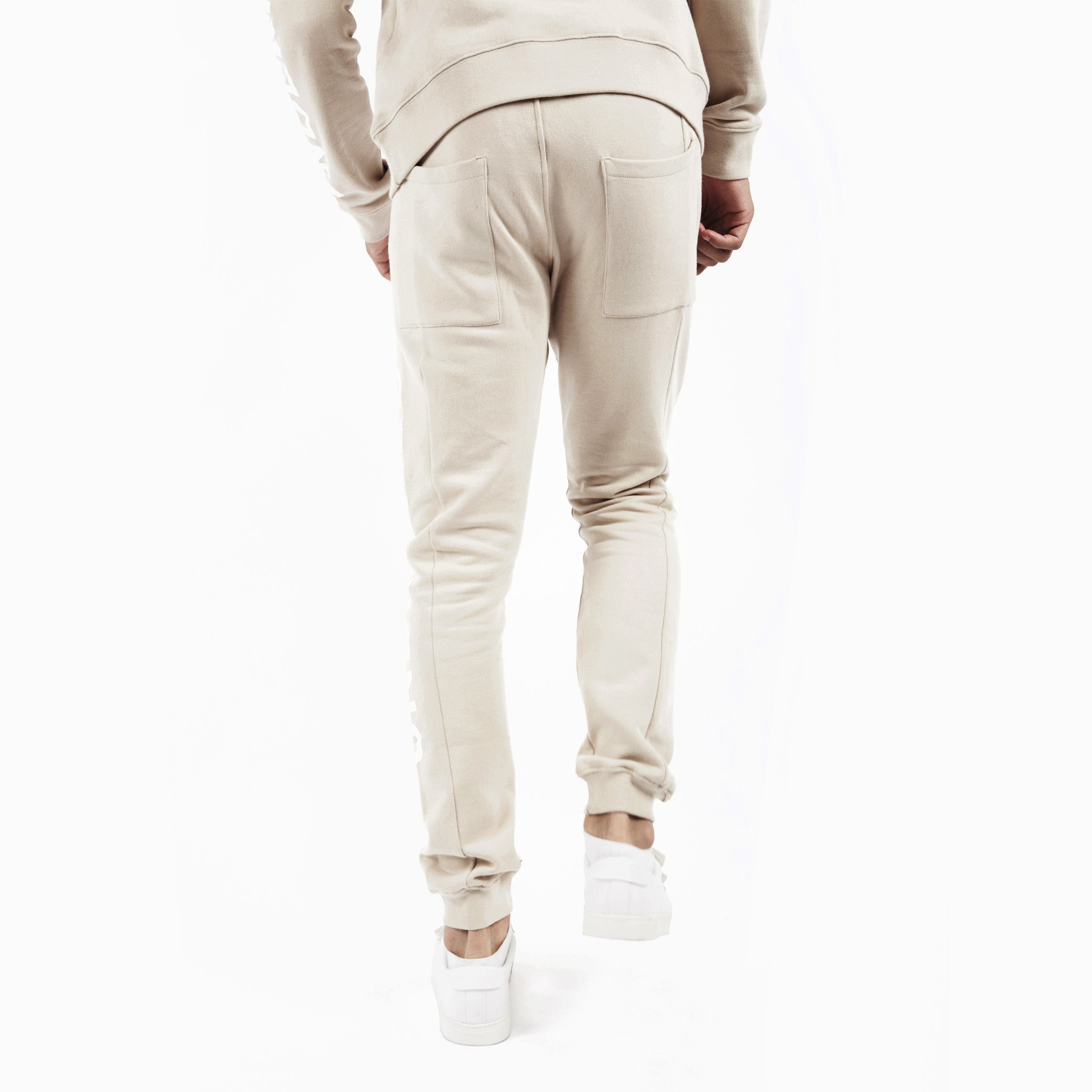 TR351 Essential Printed Joggers - Beige - underated london - underatedco - 5