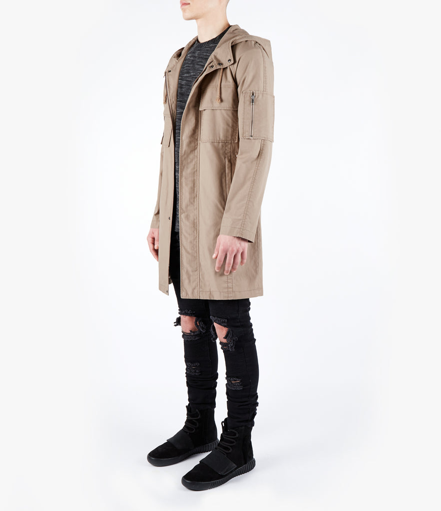 CT409 Raglan Parka Jacket - Beige - UNDERATED