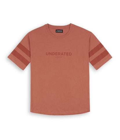 TS404 Tonal Print Tee - Rust - underated london - underatedco - 2