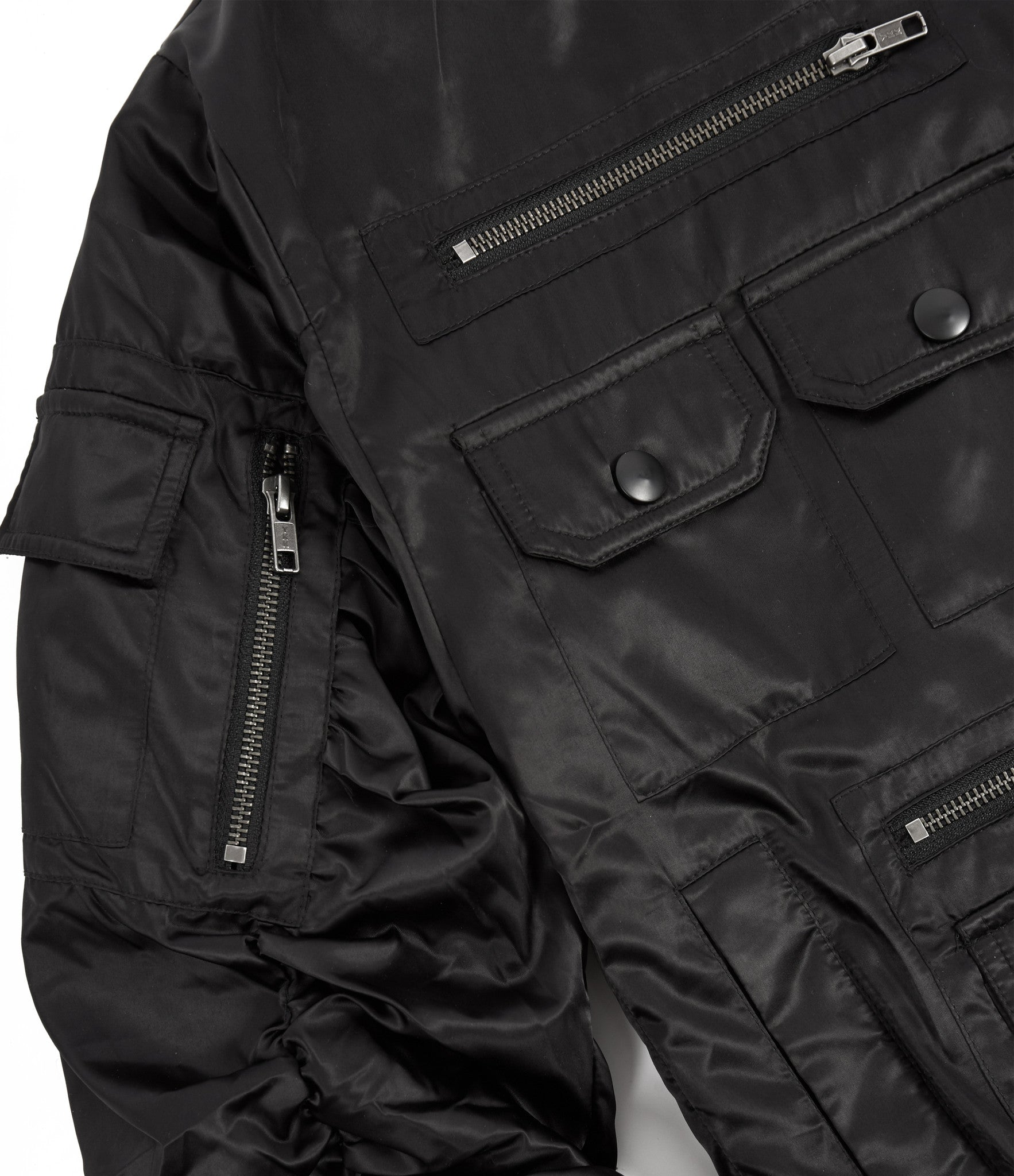 JK263 Exile Tactical Bomber Jacket - Black - underated london - underatedco - 4