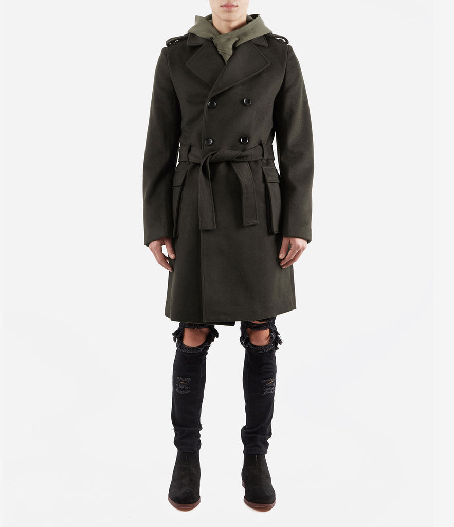 CT353 Military Trench Coat - Khaki - underated london - underatedco - 2