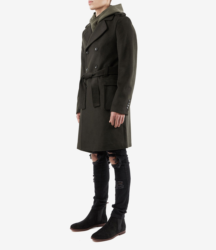 CT353 Military Trench Coat - Khaki - UNDERATED