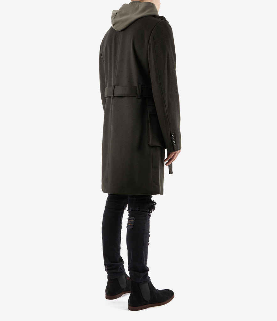 CT353 Military Trench Coat - Khaki - underated london - underatedco - 4