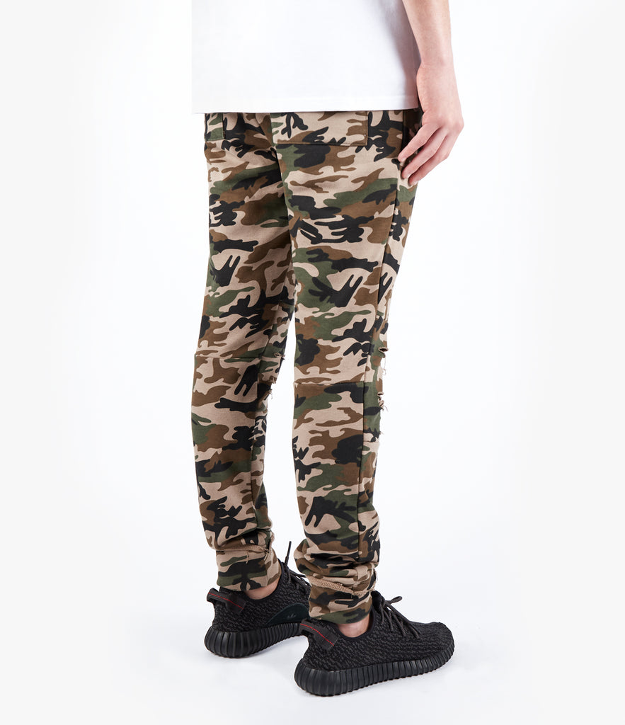 TR360 Distressed Camo Joggers - UNDERATED