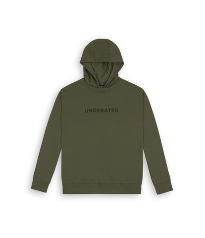 HD395 Essential Print Hoody - Khaki - underated london - underatedco - 1