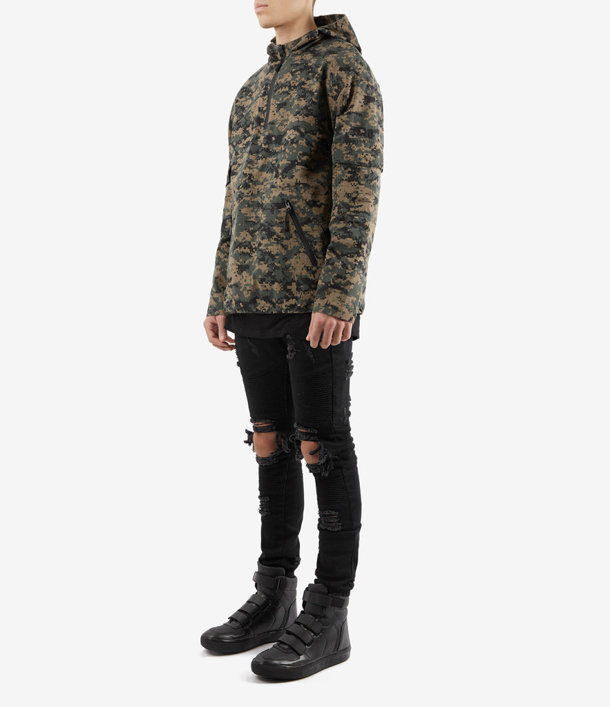 JK340 Ripstop Pullover Jacket - Green Digi Camo - UNDERATED