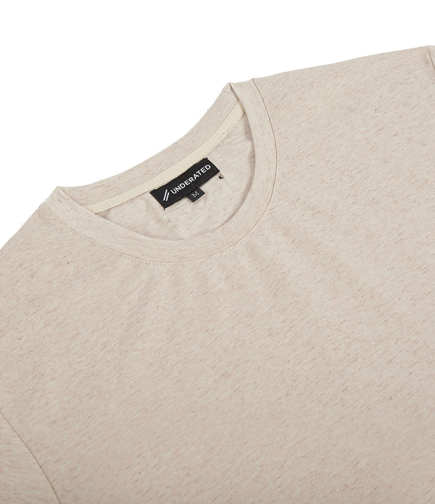 TS379 Knit Jersey L/S Tee - Sand - underated london - underatedco - 5