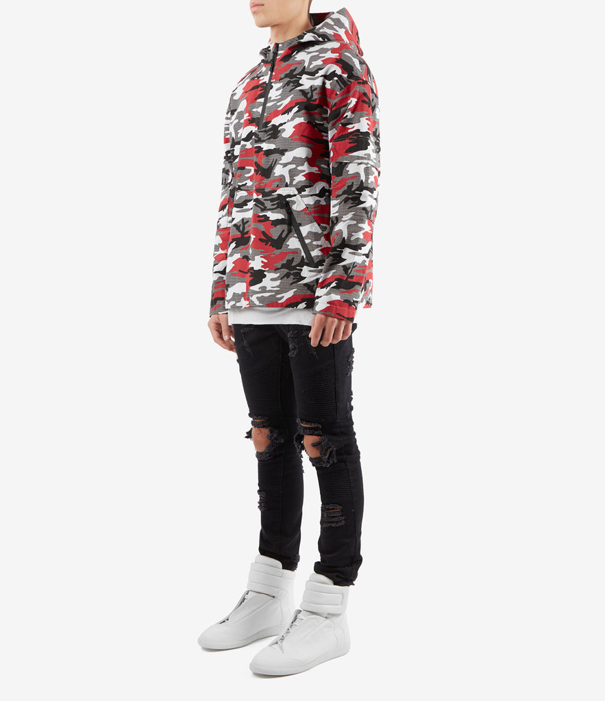 JK340 Ripstop Pullover Jacket - Red Urban Camo - UNDERATED
