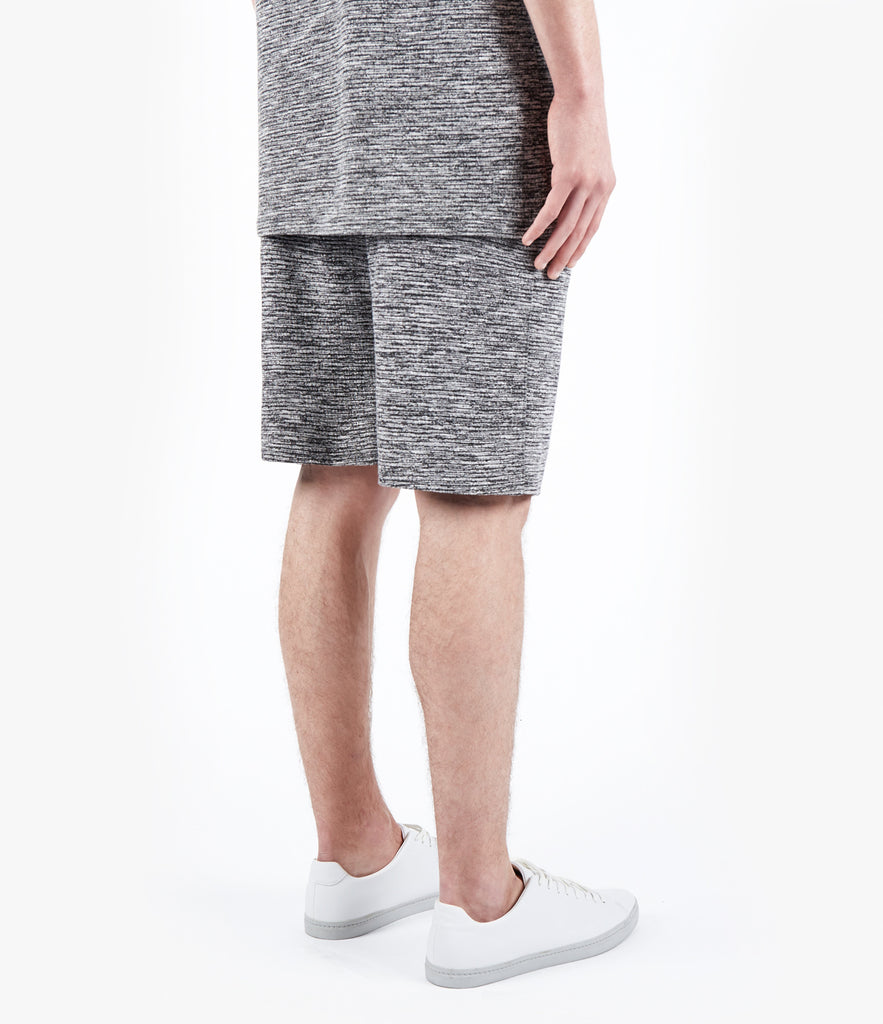 SR427 Straight Leg Shorts - Black Marl - UNDERATED