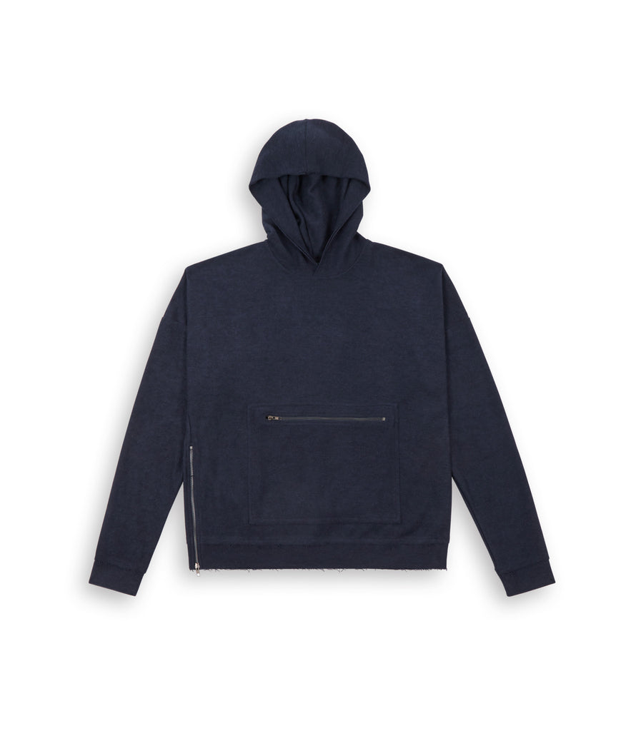 HD310 Oversized Inside Out Hoody - Navy - UNDERATED