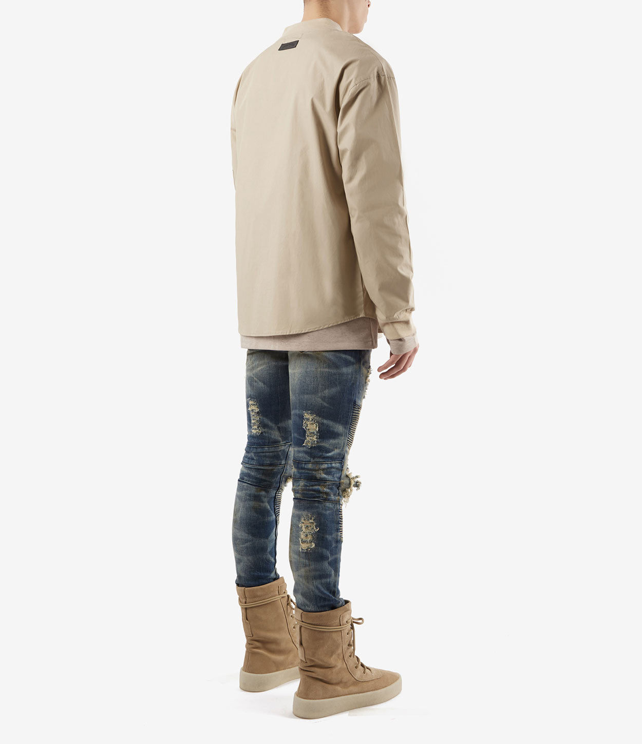SH357 Bomber Shirt - Sand - underated london - underatedco - 4