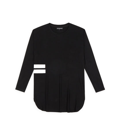 TS272 Under Layer 3/4 Sleeve Tee - Black - underated london - underatedco - 1