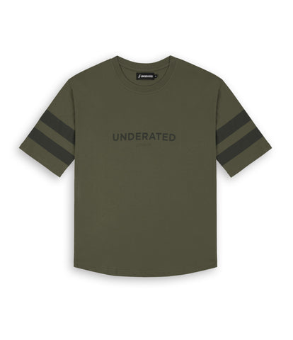TS404 Print Tee - Khaki - underated london - underatedco - 1