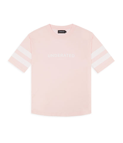 TS404 Print Tee - Pink - underated london - underatedco - 1