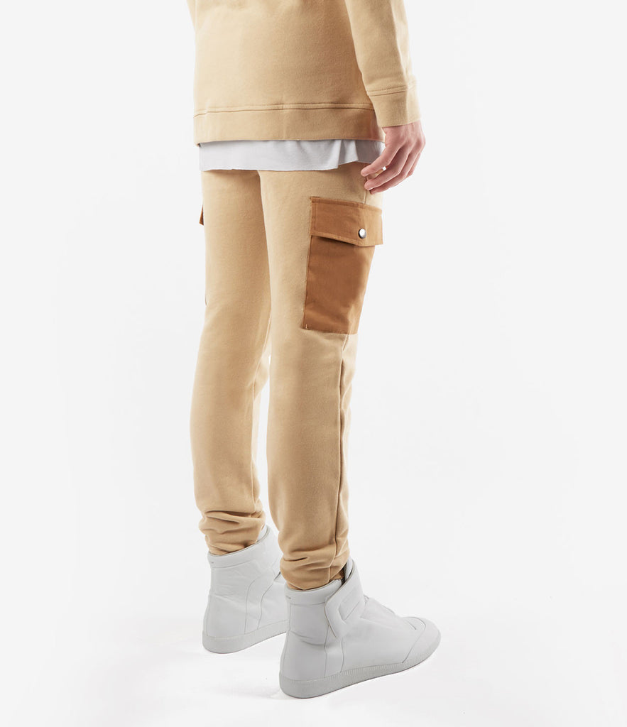 JN381 Utility Cargo Joggers - Beige - UNDERATED