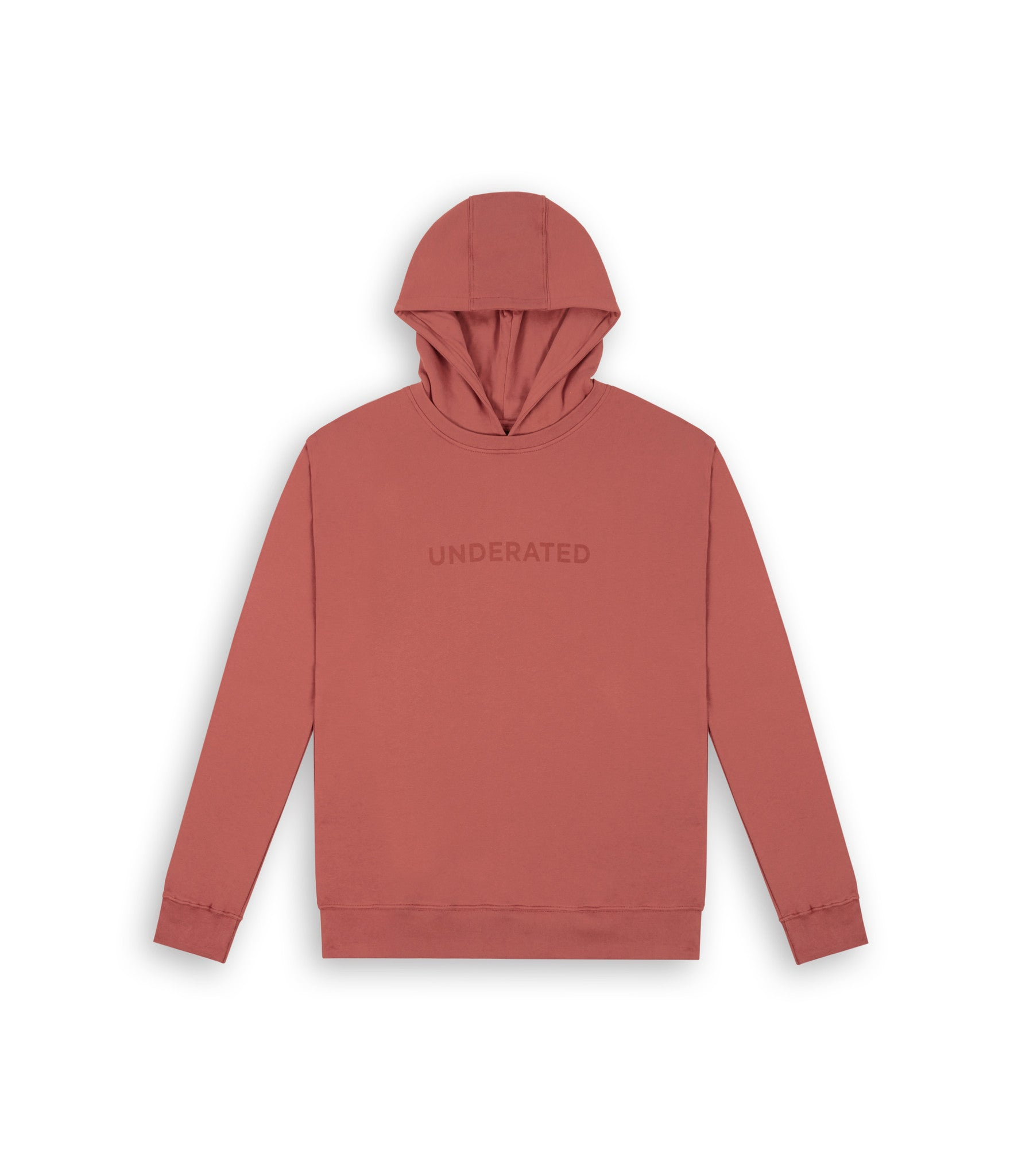 HD395 Essential Print Hoody - Rust - underated london - underatedco - 2
