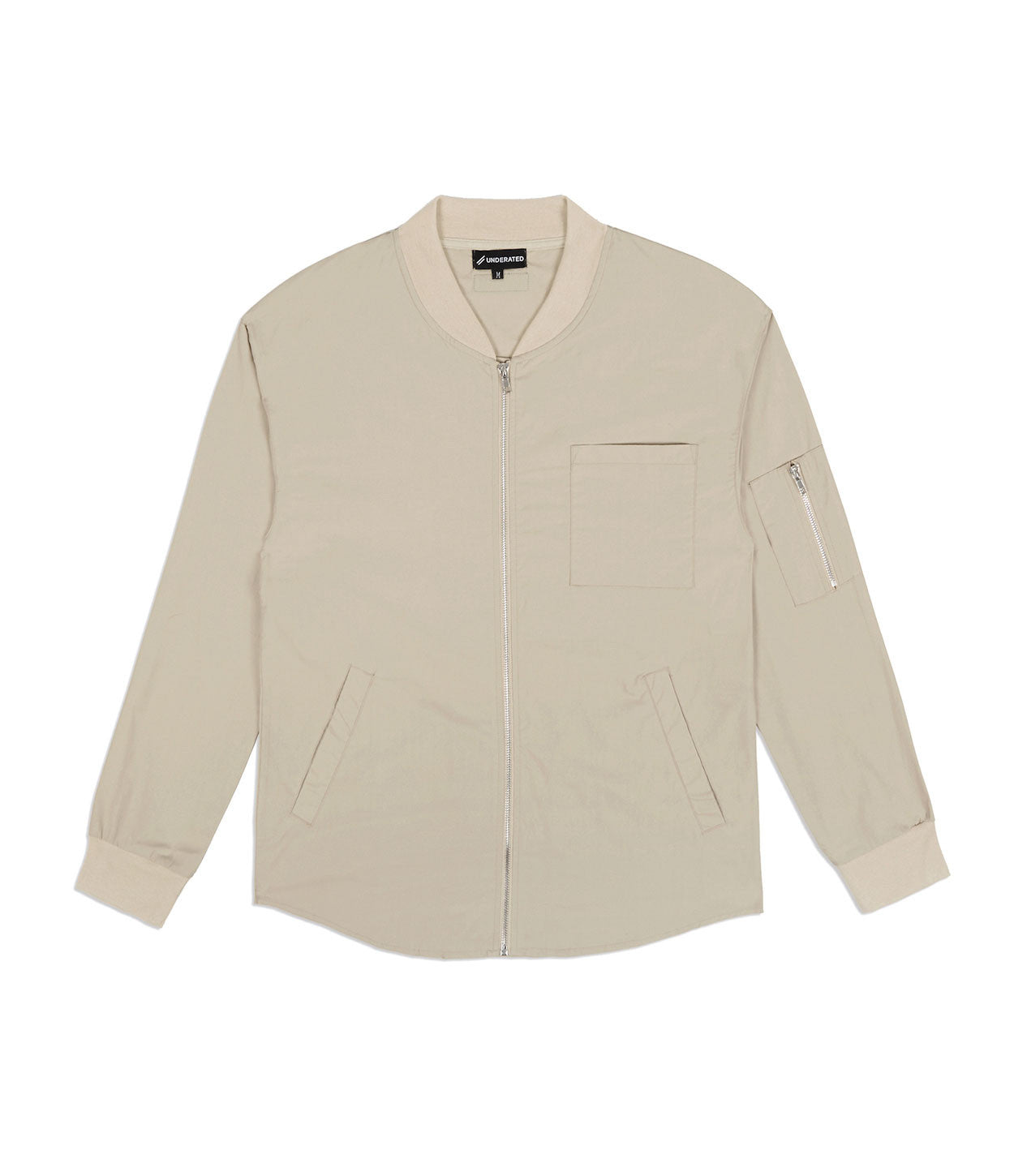 SH357 Bomber Shirt - Sand - underated london - underatedco - 1