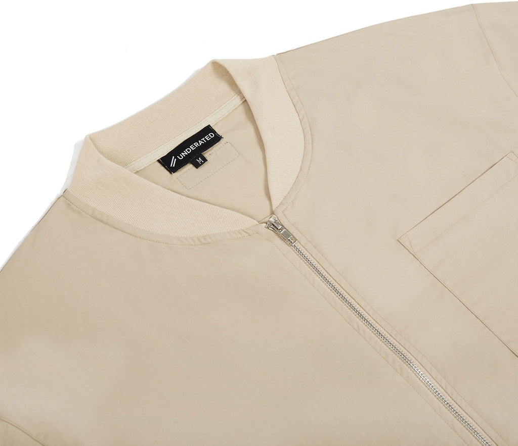 SH357 Bomber Shirt - Sand - underated london - underatedco - 6