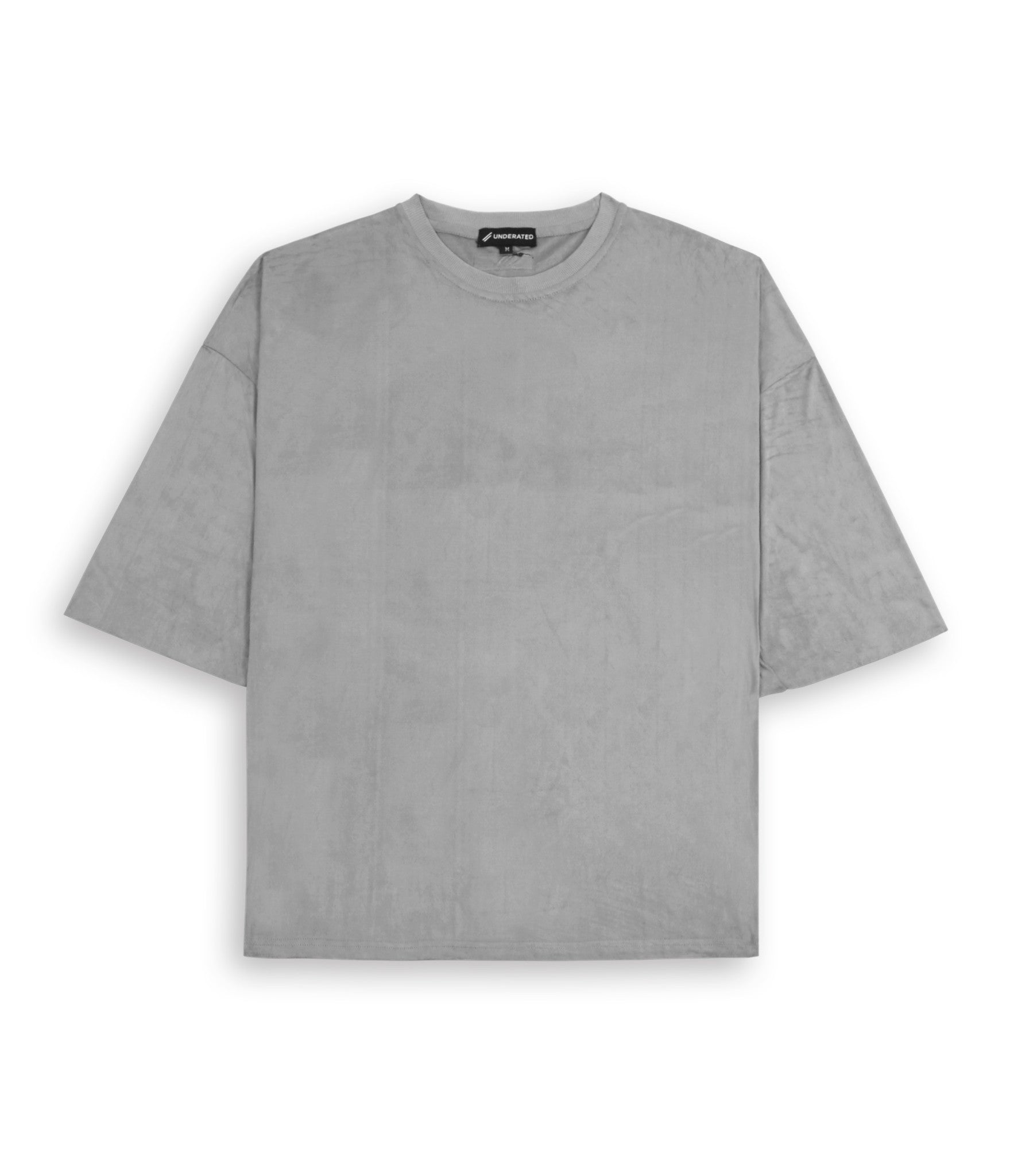 TS302 Suede Oversized Box Tee - Smokey Grey - underated london - underatedco - 2