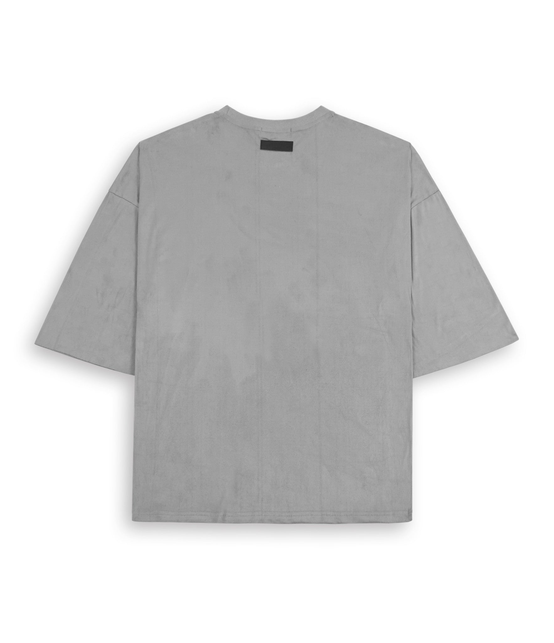 TS302 Suede Oversized Box Tee - Smokey Grey - underated london - underatedco - 3