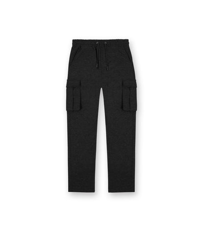 TR253 Wool Blend Cropped Cargo Pants - Black - UNDERATED