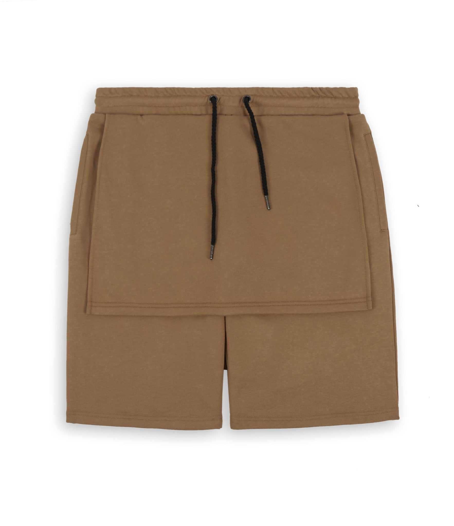 SR054 Layered Shorts - Tan - underated london - underatedco - 1