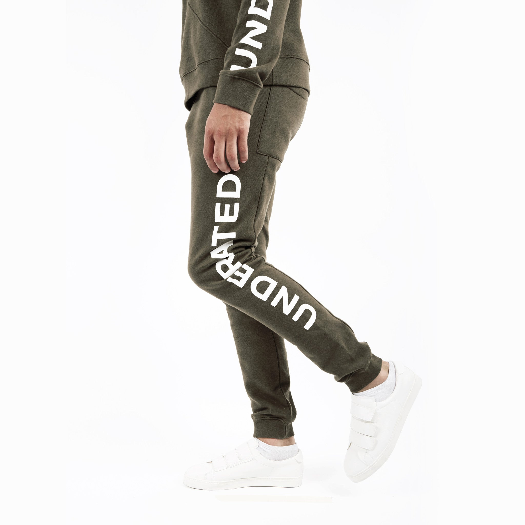 TR351 Essential Printed Joggers - Khaki - underated london - underatedco - 4