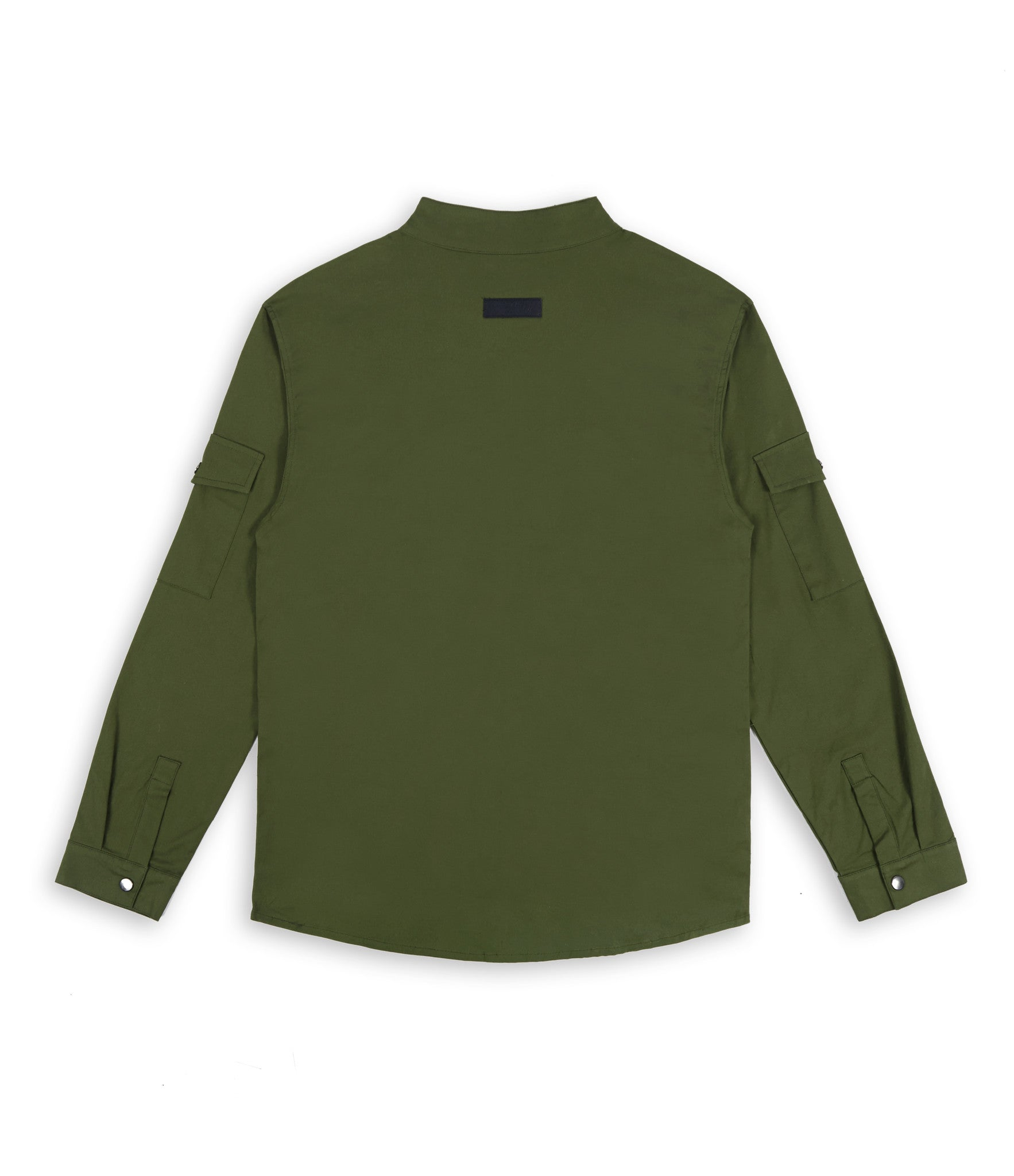 SH342 Utility Zip Shirt - Military Green - underated london - underatedco - 2
