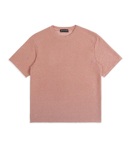 underated oversized fit t-shirt - pink knit