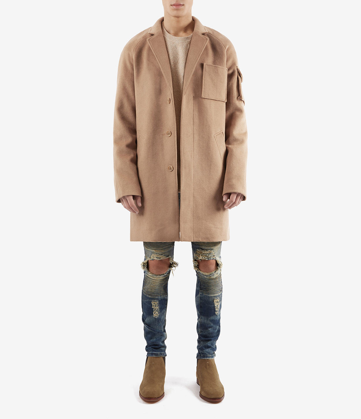 CT369 Utility Wool Overcoat - Camel - underated london - underatedco - 2