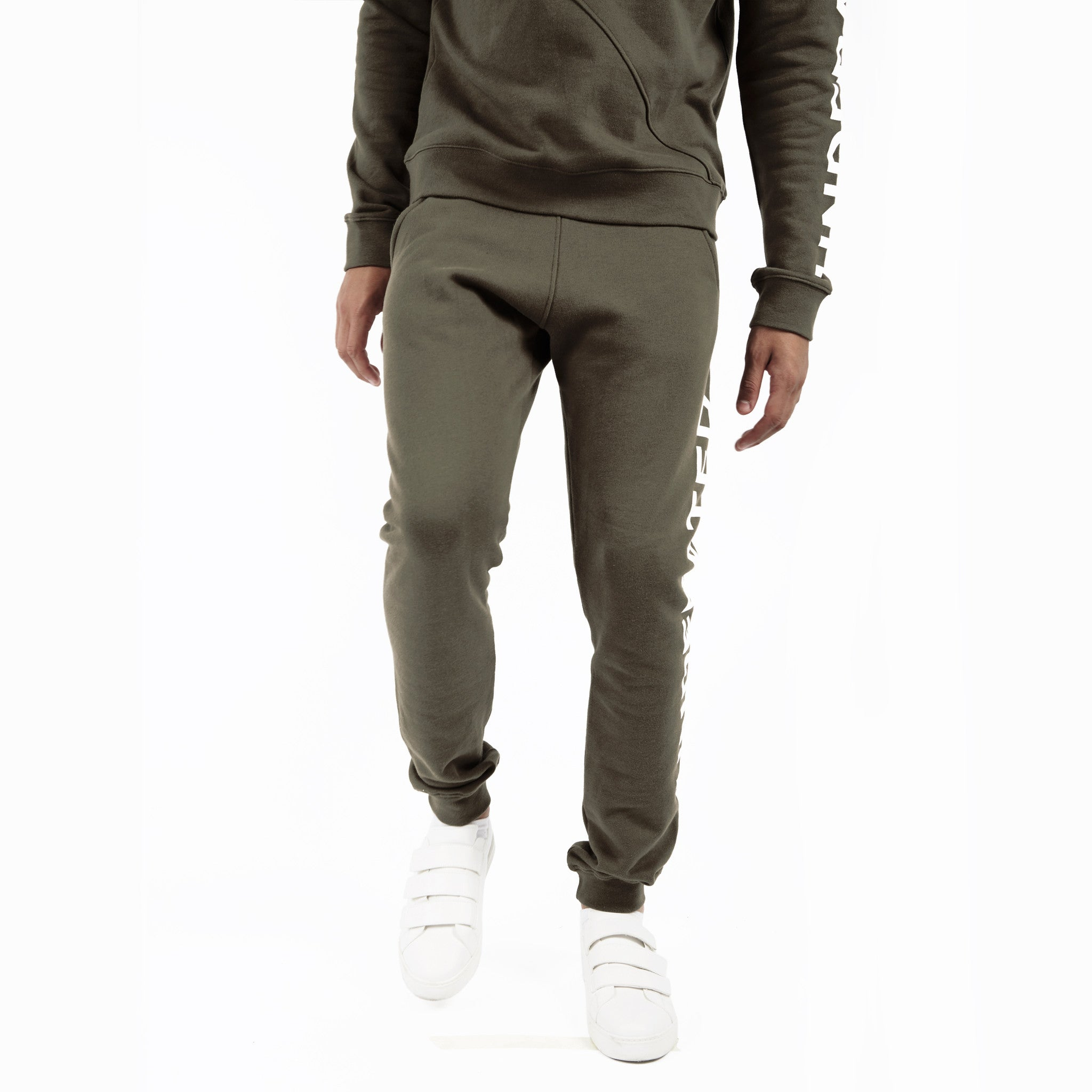 TR351 Essential Printed Joggers - Khaki - underated london - underatedco - 5