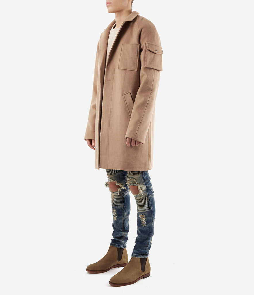 CT369 Utility Wool Overcoat - Camel - underated london - underatedco - 4