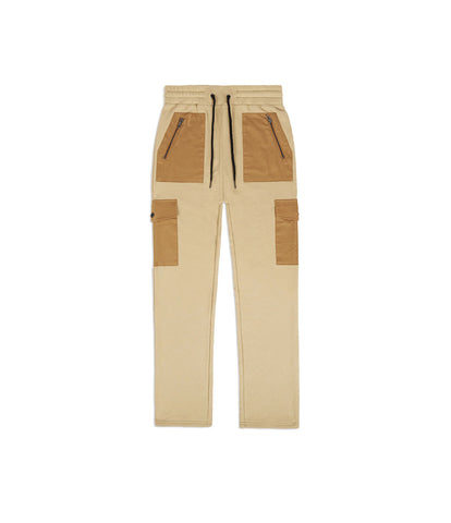 JN381 Utility Cargo Joggers - Beige - underated london - underatedco - 1