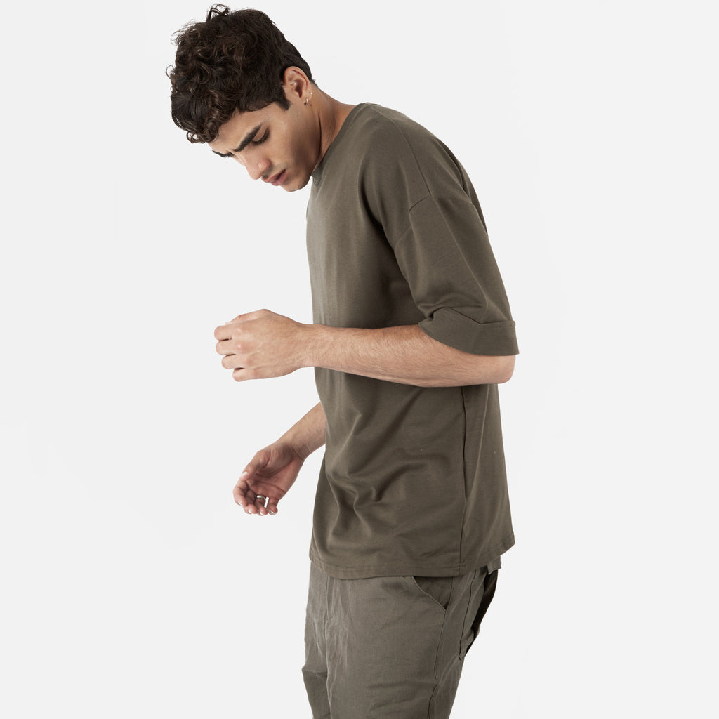 TS271 Oversized Tee - Khaki - UNDERATED