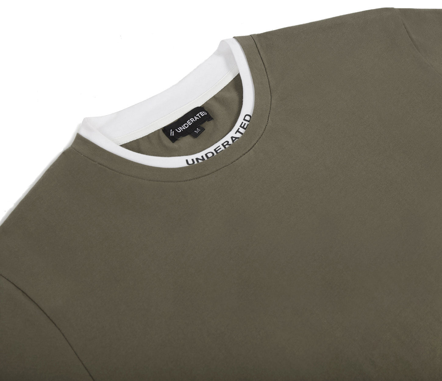 TS380 Collar Print Tee - Khaki - underated london - underatedco - 5