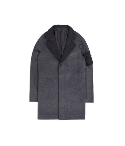 CT369 Utility Wool Overcoat - Charcoal - underated london - underatedco - 1