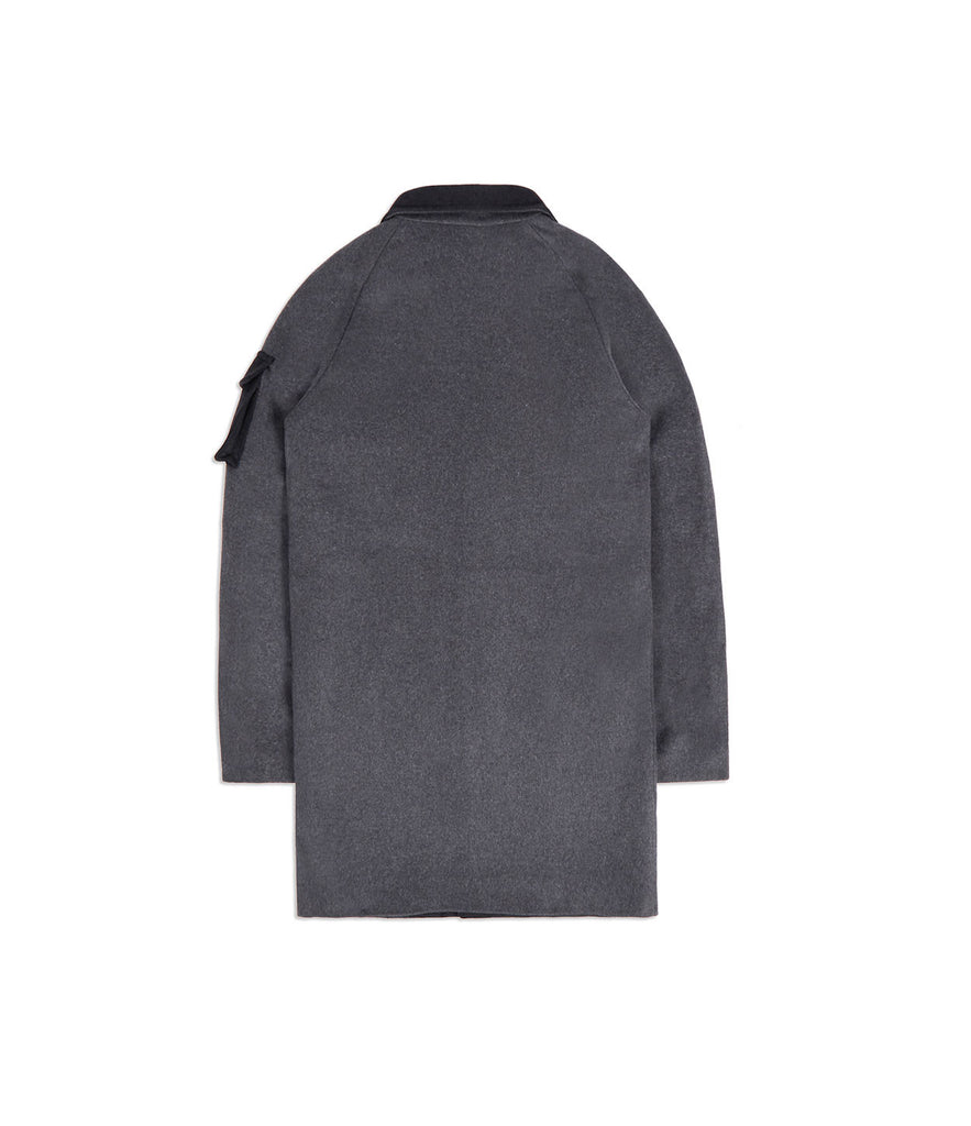 CT369 Utility Wool Overcoat - Charcoal - underated london - underatedco - 7