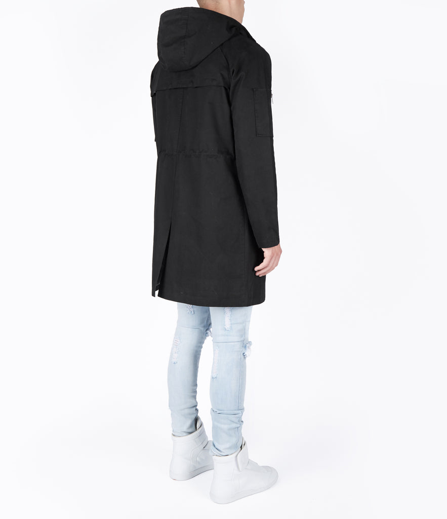 CT409 Raglan Parka Jacket - Black - UNDERATED