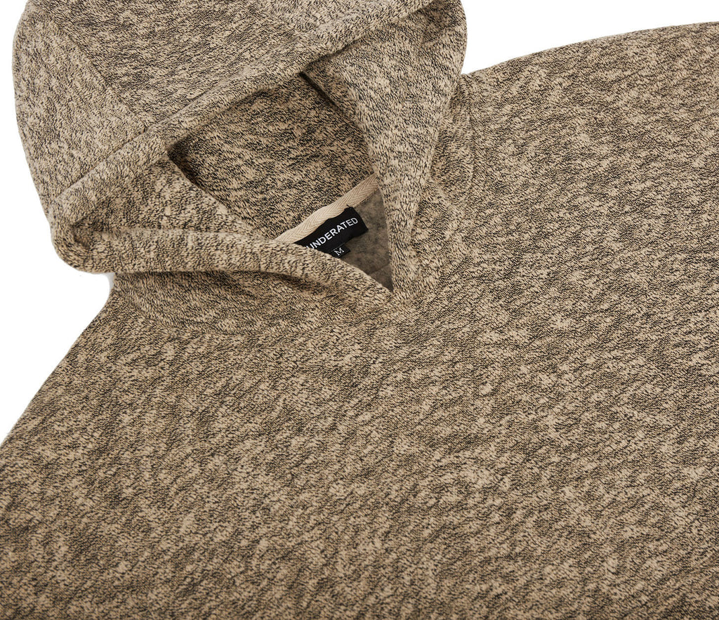 HD378 Oversized Knit Hoody - Sand/Black - underated london - underatedco - 5