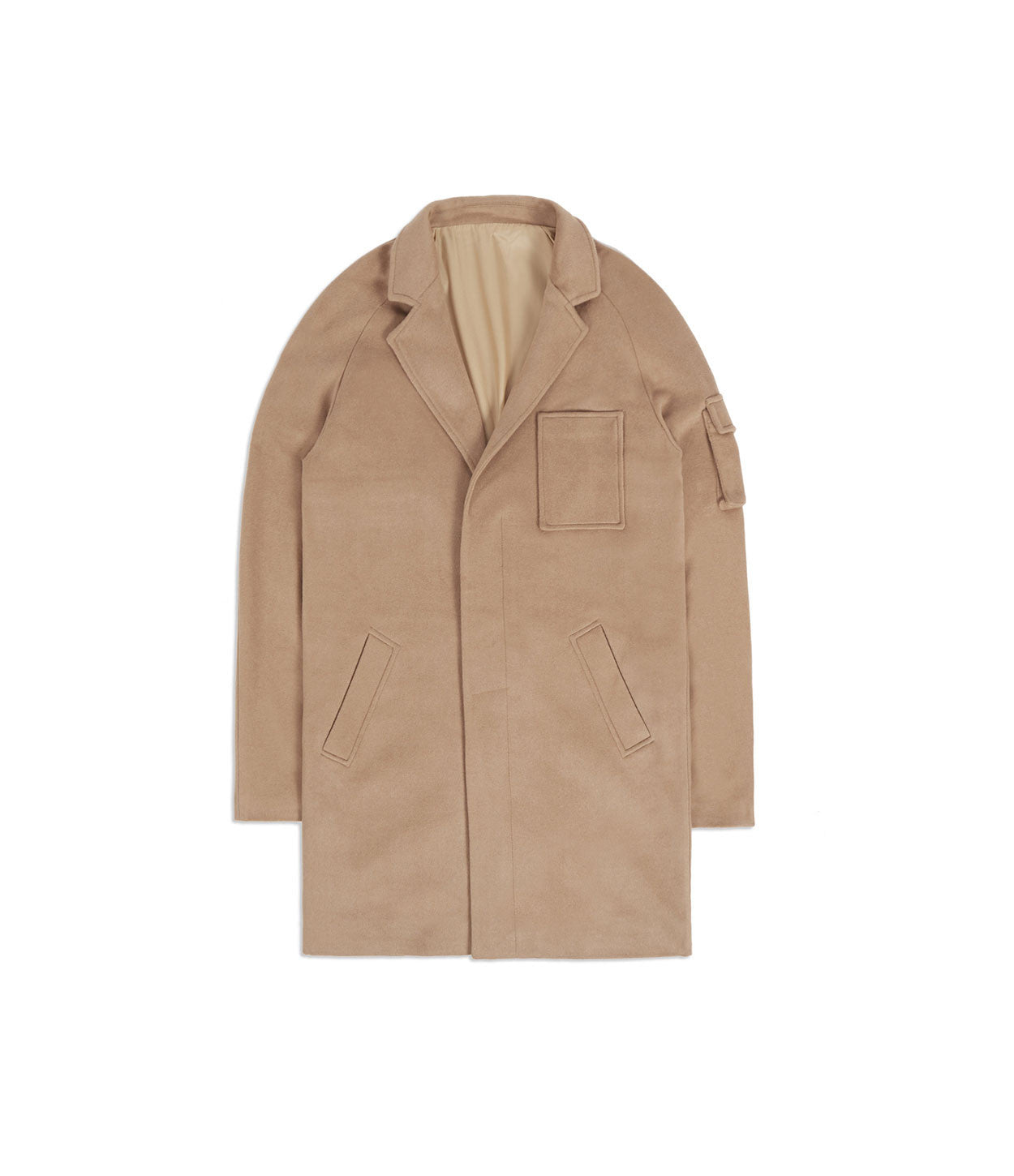 CT369 Utility Wool Overcoat - Camel - underated london - underatedco - 1