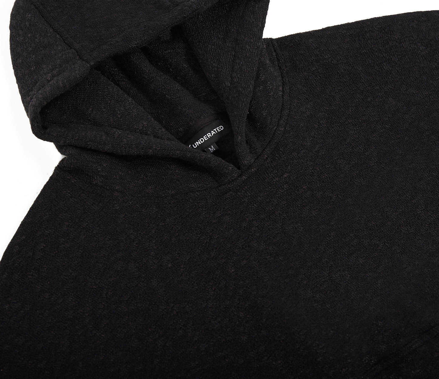 HD378 Oversized Knit Hoody - Charcoal/Black - underated london - underatedco - 6