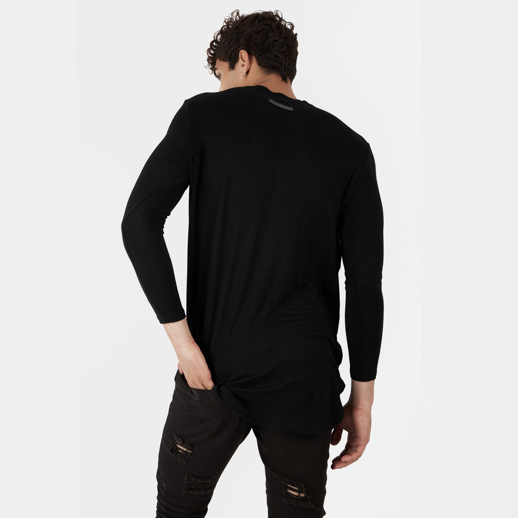 TS272 Under Layer 3/4 Sleeve Tee - Black