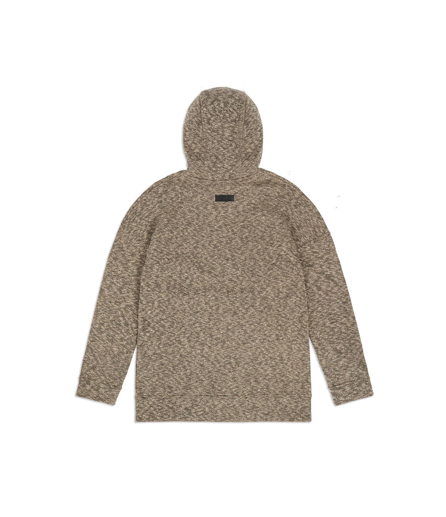 HD378 Oversized Knit Hoody - Sand/Black - underated london - underatedco - 7