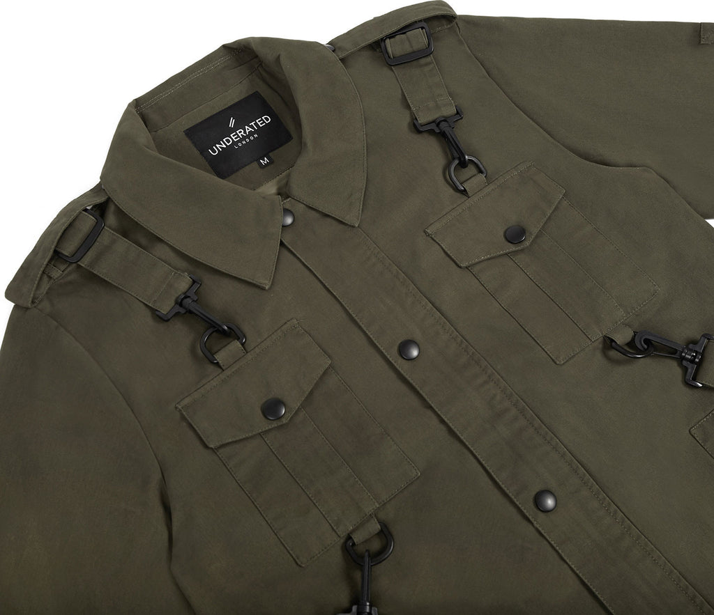 JK356 Utility Strap Jacket - Khaki - underated london - underatedco - 5