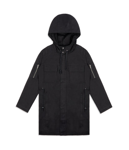 CT409 Raglan Parka Jacket - Black