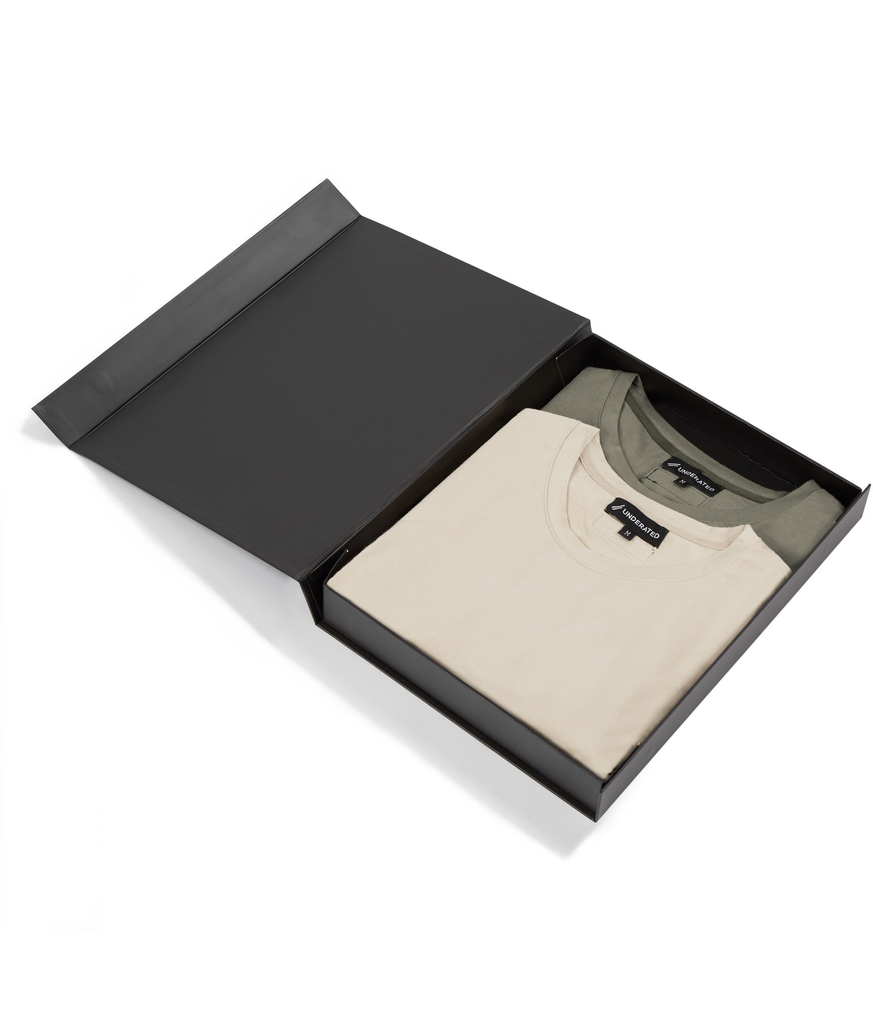 2 Pack Under Layer 3/4 Sleeve Tee - Khaki/Beige - underated london - underatedco - 1