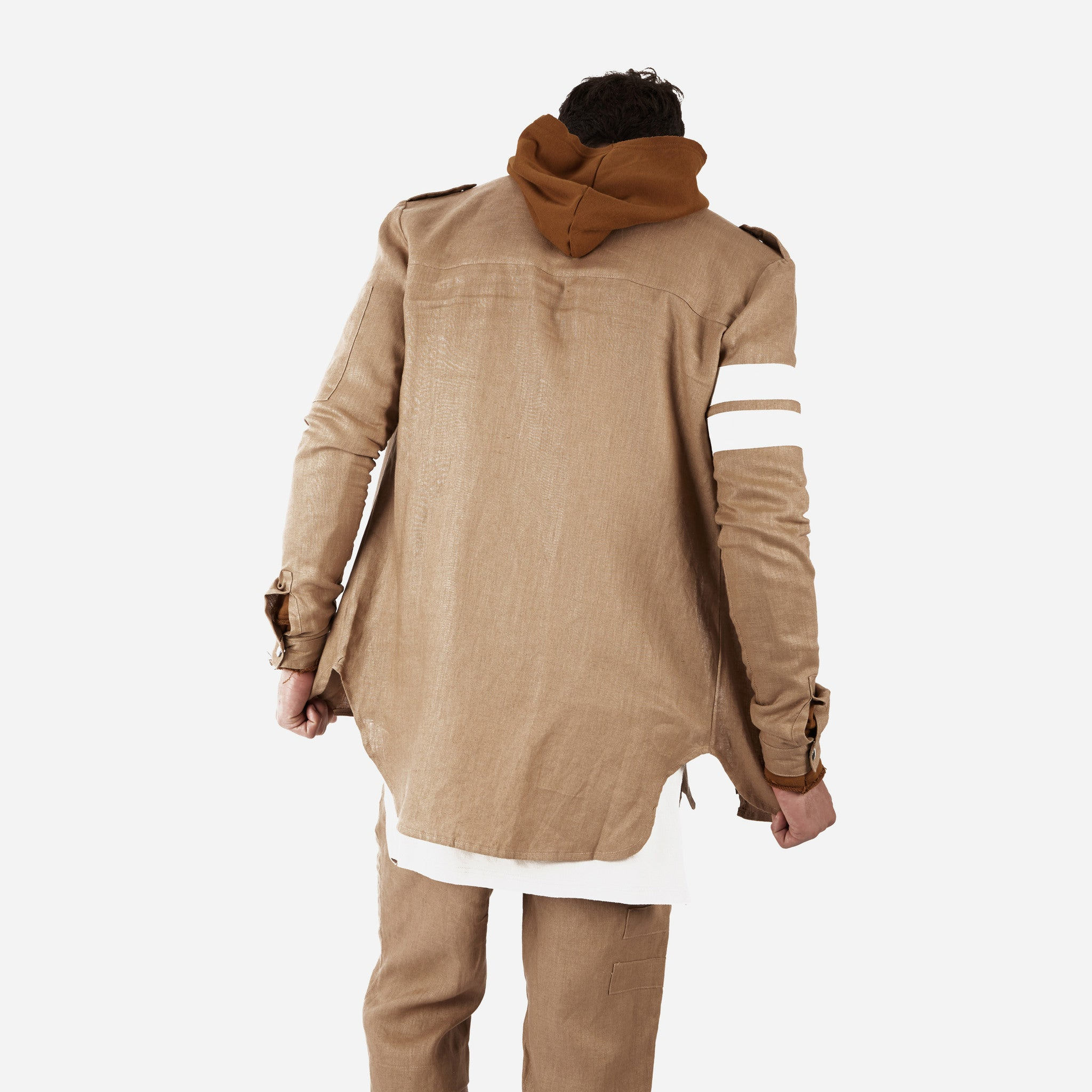SH273 Exile Military Shirt - Tan - underated london - underatedco - 7