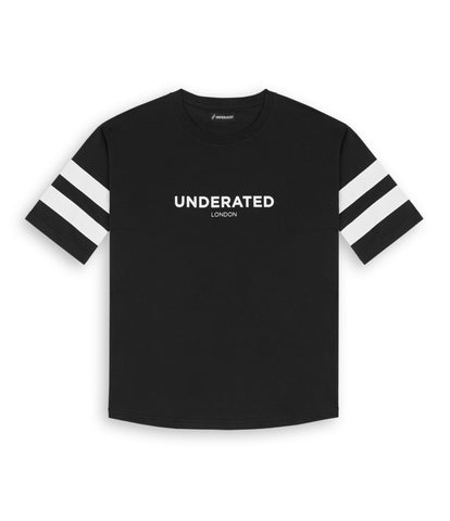 TS404 Print Tee - Black - underated london - underatedco - 1